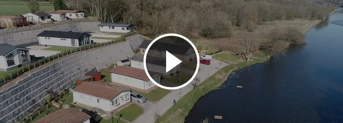 Riverside drone footage video banner.